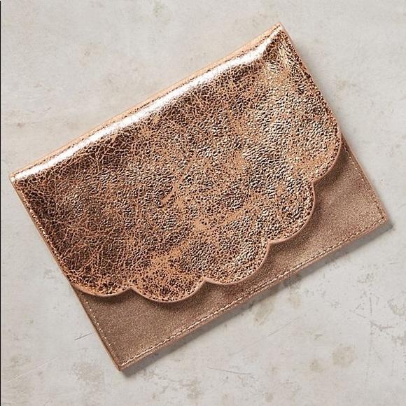 Anthropologie Handbags - Copper Scallop Wallet